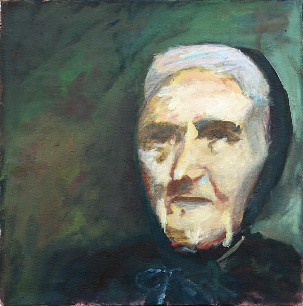 Urgrossmutter Anna 50×50 cm